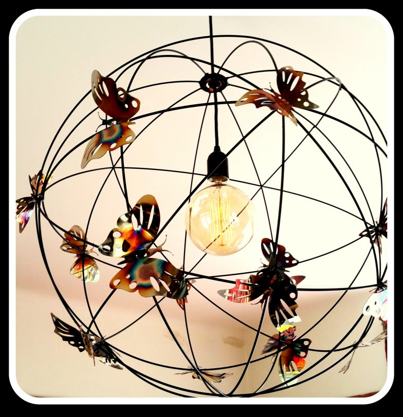 Butterfly lighting globes