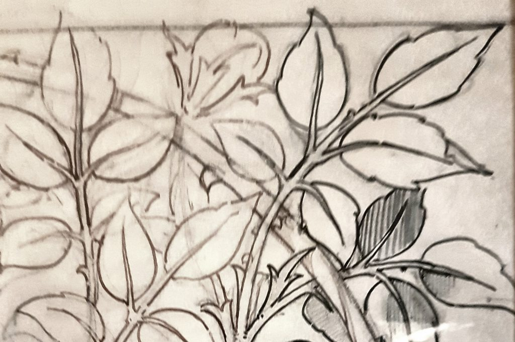 Pre-Raphaelite arty leaves , just my style.