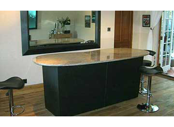 Granite topped bar and mirror