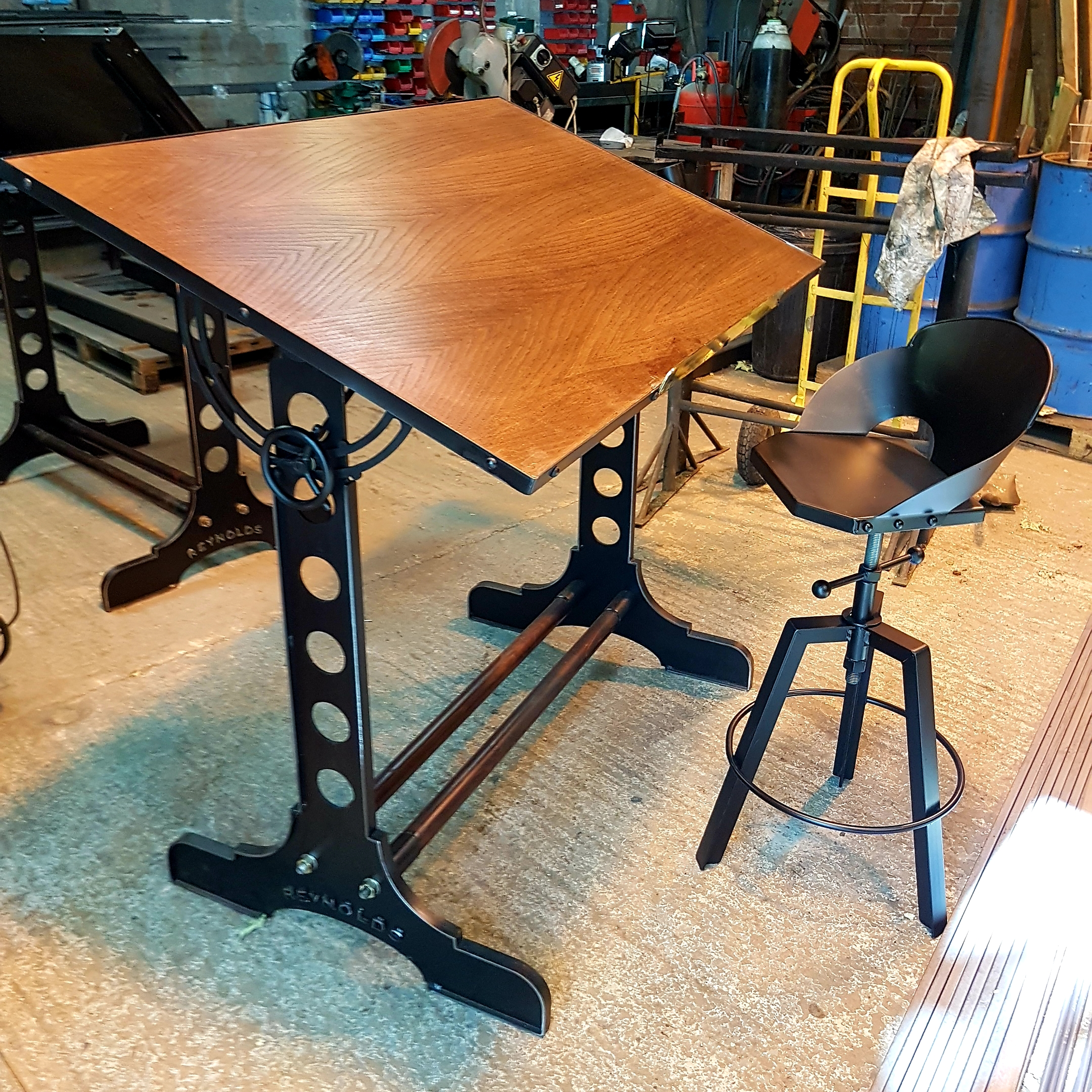 Retro desk or drafting table