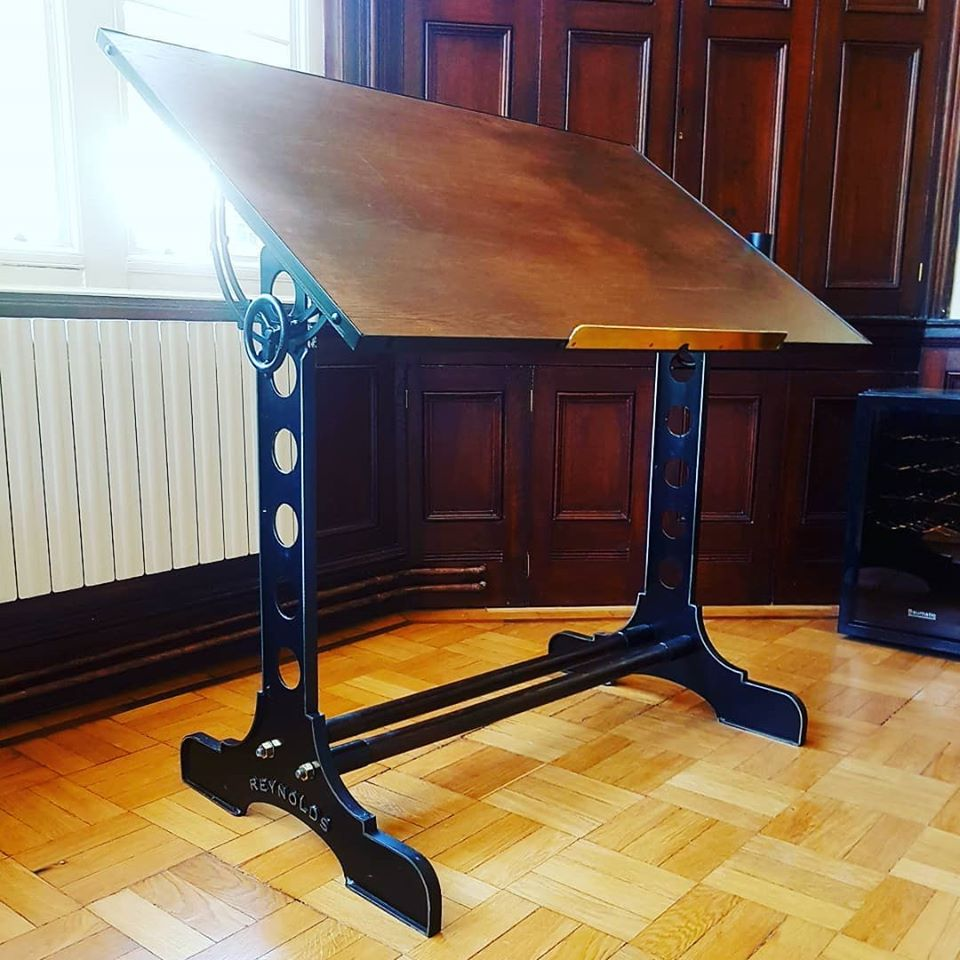 Handmade Retro style draughting table. Drawing tables made to order.