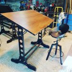 Handmade Retro looking Draughting table. Drawing table made to order.